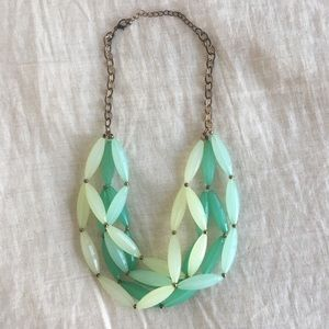 Green and Teal Beaded Necklace
